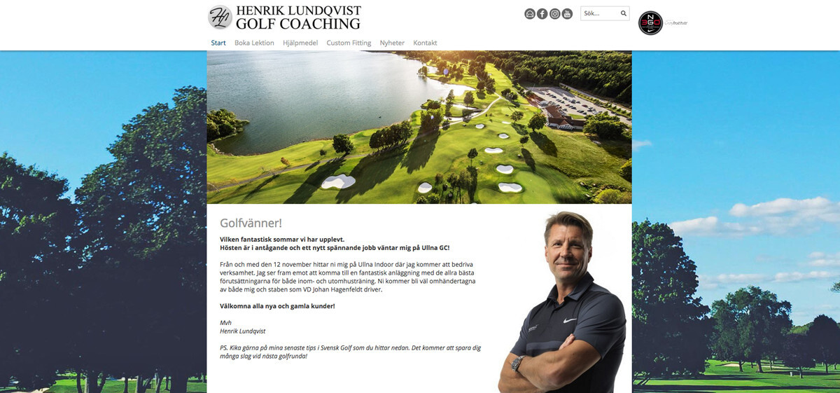 Henrik Lundqvist Golf Coaching